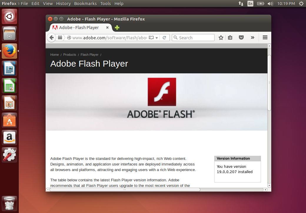 Скачать Flash Player для Linux